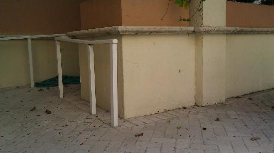 Rodeway Inn South Miami - Coral Gables: Very dirty pool area with trash and bugs.