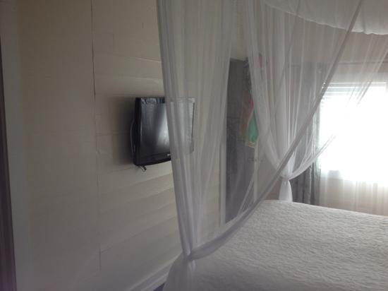 Avalon Bed and Breakfast: Netting over the bed (room 23)