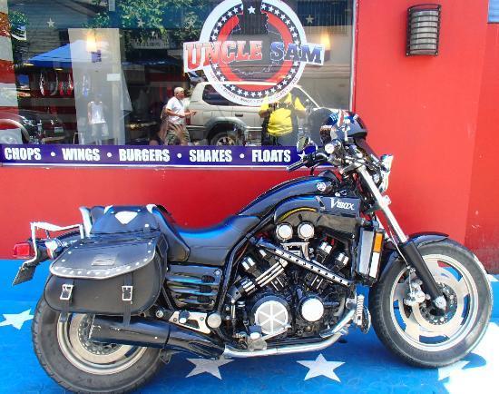 Uncle Sam Restaurant: Monster Bike parking
