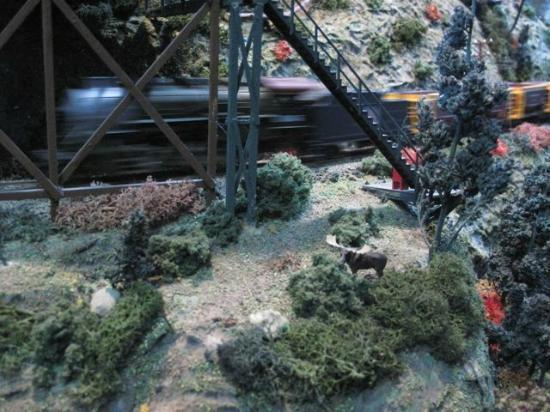West Coast Railway Heritage Park: HO Gage train speeds by