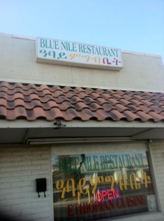 Blue Nile Ethiopian Restaurant: outside sign