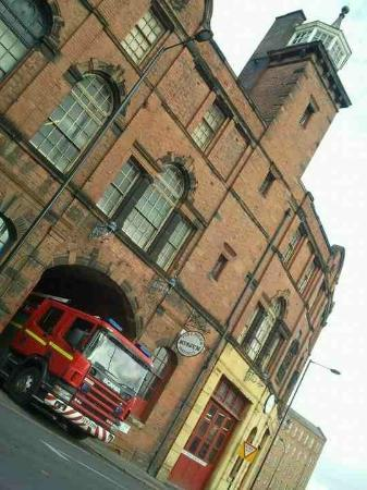 National Emergency Services Museum: they had a visiting fire engine new type scania here today