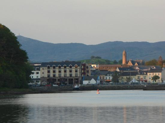 Donegal Town bathed in late evening sunshine