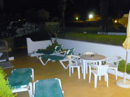 Joinal Villas Apartments: Night shot from our patio doors