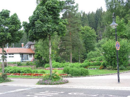 Parkhotel Waldeck : Kleine Parkanlage gegenüber dem Hotel