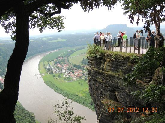 Bad Schandau, Almanya: View from the Top of Bastei
