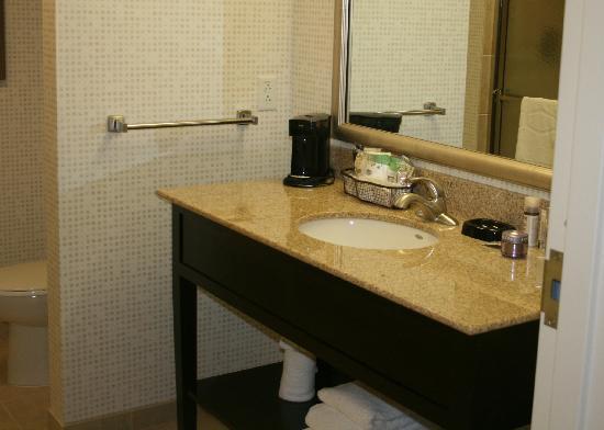 Hampton Inn Tunkhannock: The bathroom