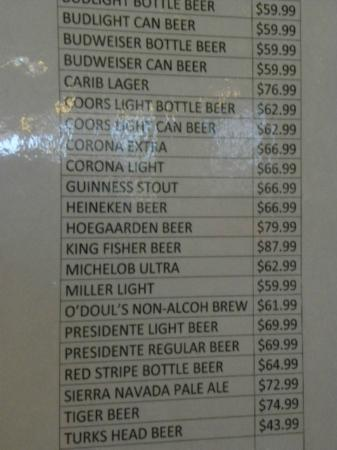 Ports of Call Resort: beer prices