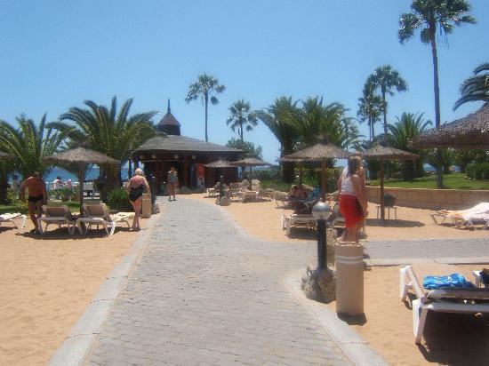 Hotel Riu Palace Tenerife: Private beach belong to hotel