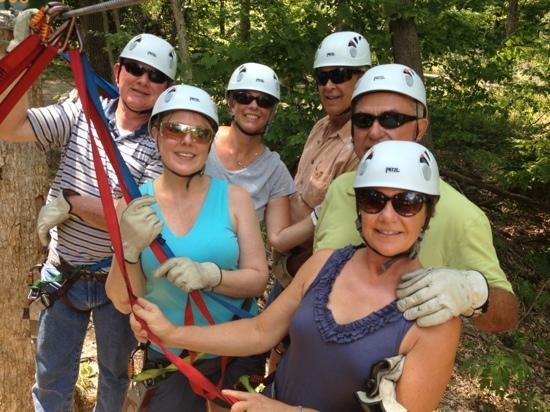 Grafton Zipline Adventures: 106 degrees and it was FUN!