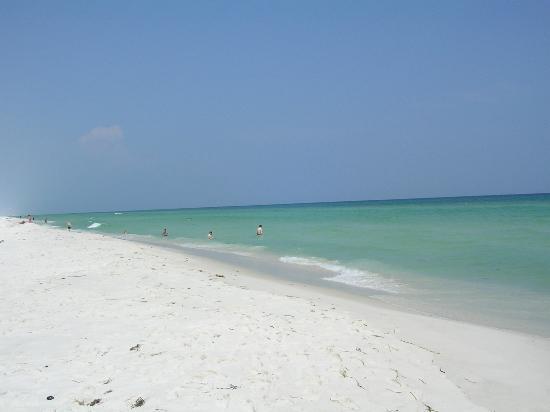 Gulf across street from Paradise inn