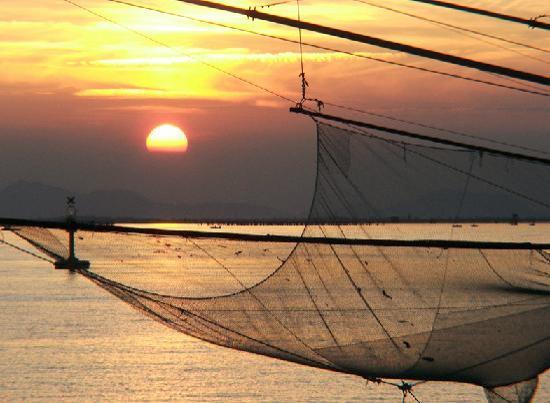 Riviera Hotel: Sunset off of Lido Island