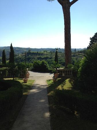 The view from the main house.