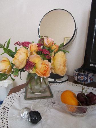 Scotland Lodge Farm: frische Rosen!
