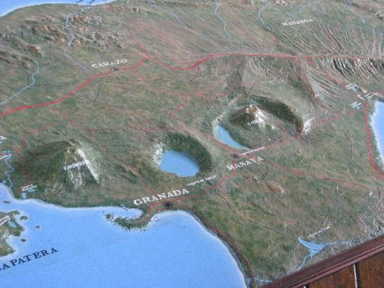 Relief Maps in Visitor Center Picture of Masaya Volcano National
