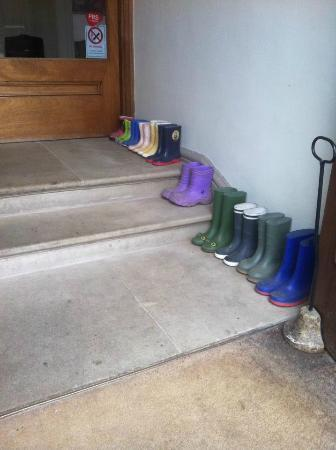 The Ickworth Hotel: Wellies for guests to use (Adults inside)