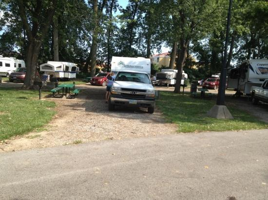 Cedar Point's Lighthouse Point: campsites are ample in size for needs