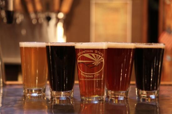 Mountain State Brewing Company : Four house brews on tap