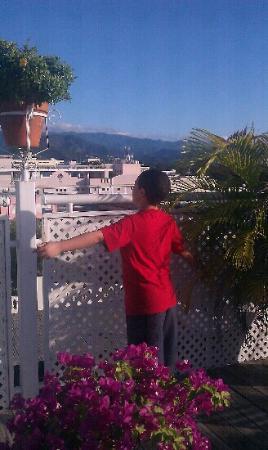 Hotel Melia Ponce: en el area de desayuno con las palomas