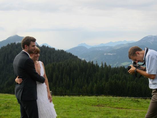Kraftalm Gasthof: Bride and Groom photo session