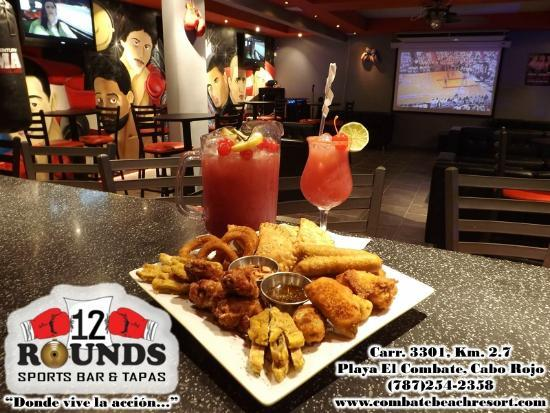 Wall decoration picture of rounds sports bar tapas