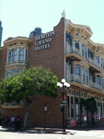The Horton Grand Hotel: from across the street