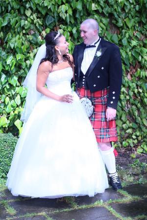 Holiday Inn Leeds Bradford: bride & groom in grounds