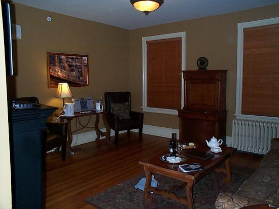 The Sayre Mansion Inn: view from BR into LR (Suite #3)