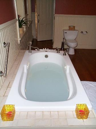 The Sayre Mansion Inn: jetted tub in Suite #3