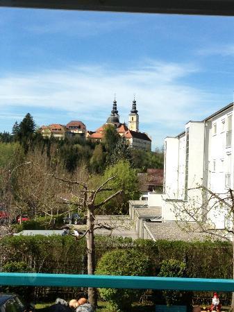 Gastehaus Plank : View from breakfast room