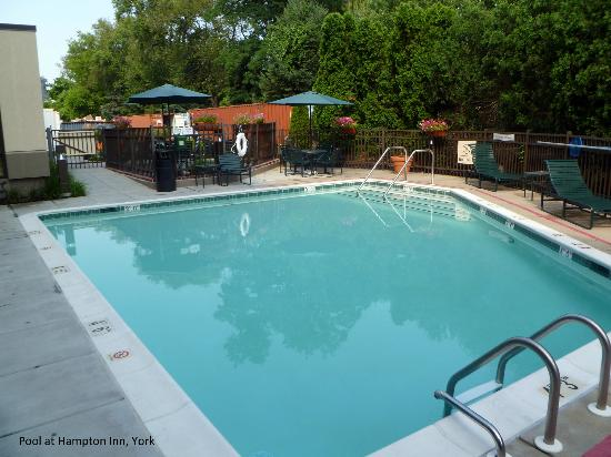 Hampton Inn York: Pool area