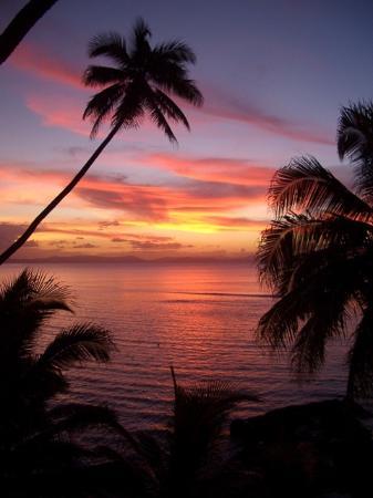 Taveuni Palms Resort: Sunset from horizon spa villa