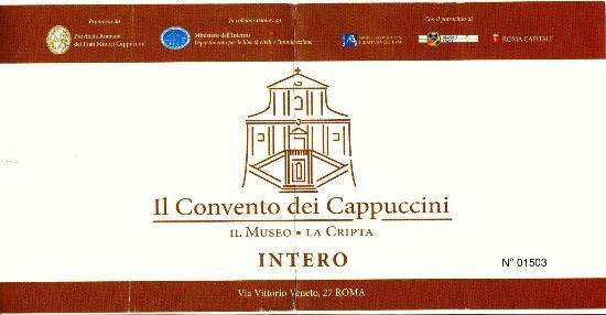 Monumental Cemetery of the Capuchin Brothers : Ticket with address