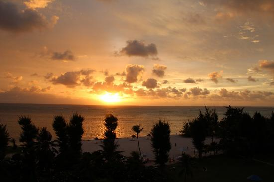 Fiesta Resort & Spa Saipan: sunset (taken from ocean view room balcony)