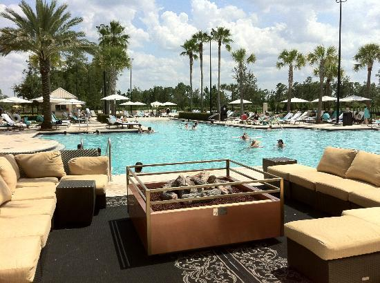 Waldorf Astoria Orlando: Pool Area And Fire Pit