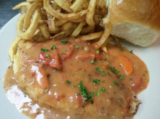 Rooster's: The Chicken Cutlet w/ Creole Tomato Gravy!