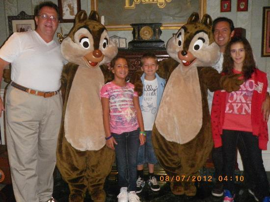 Walt Disney Studios: Pictures with Disney Characters. At the hotel ok, but in the park....