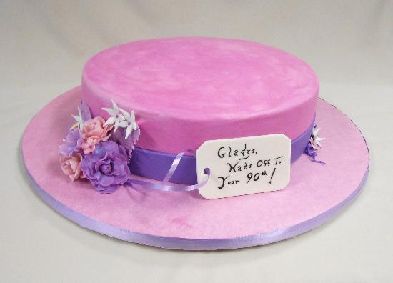 Briannas Fine Foods Custom Specialty Cake 90th Birthday Hat