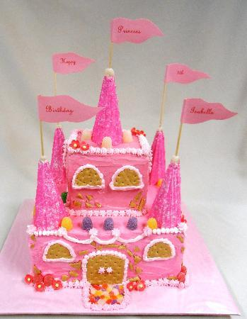 Moms 70th Birthday Cake Briannas Fine Foods Custom Specialty Princess Castle