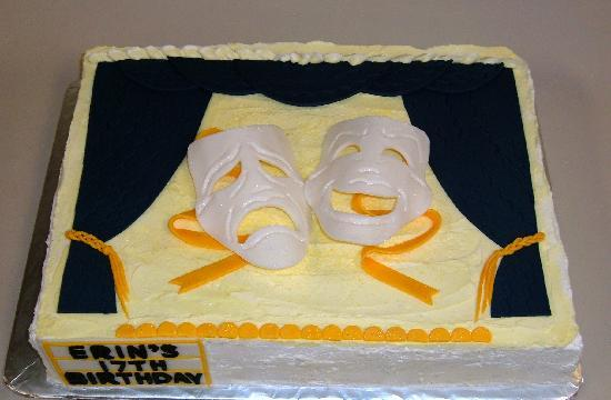 Briannas Fine Foods Custom Specialty Cake Theatre Comedy Tragedy