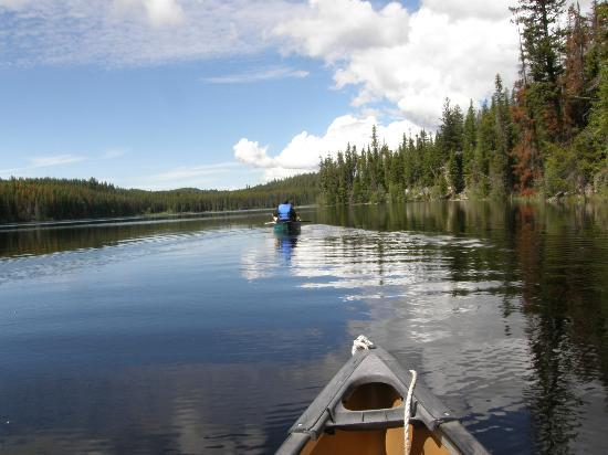 Idabel Lake Resort: Out on the canoe