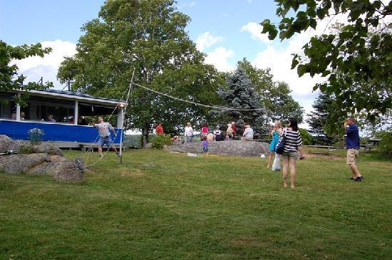 Badminton on Cabbage Island