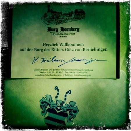Hotel Restaurant Burg Hornberg: Adel verpflichtet
