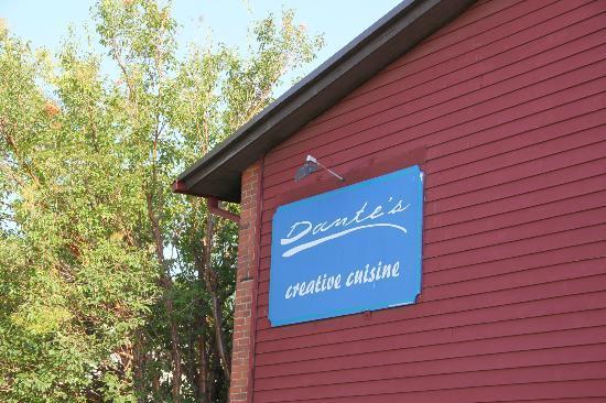 Dante's Creative Cuisine exterior sign
