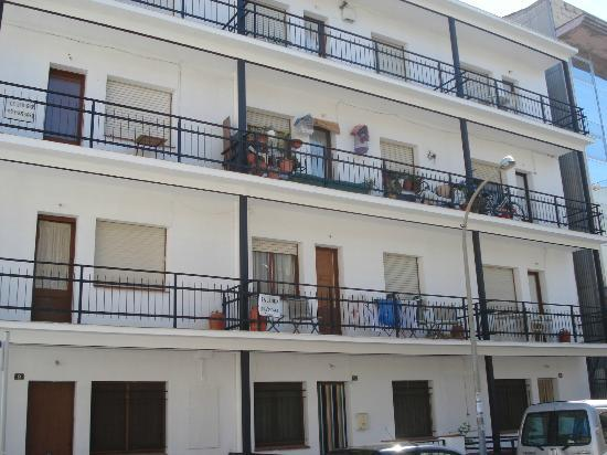 Pension Rovior : Our wee terrace on ground floor.