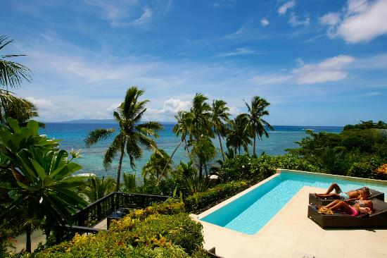 Matei, Fiji: Horizon spa villa view and pool