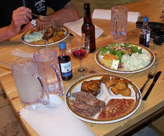 The Cody Cattle Company: Wonderful meal - picture can't share the flavor.