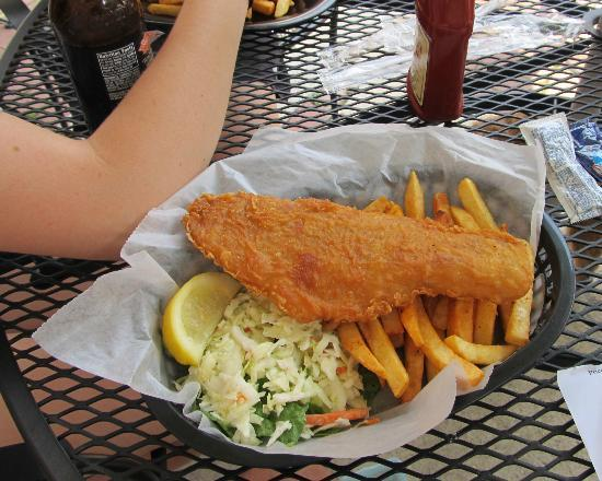 The Coffee Mill : The Fish and Chips - one big cod fillet w/ french fries