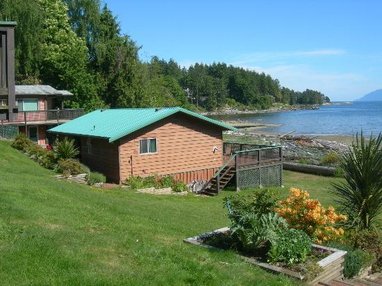 Seabreeze Resort: cottage #7 water front view across Malaspina Straight