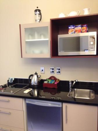Merivale Manor: kitchenette in room 216